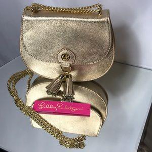 New gold Lilly Pulitzer crossbody bag